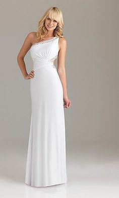 Long white graduation dresses 2013 - White dress