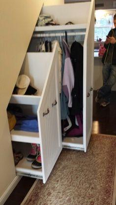Under stair closets!