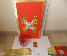 How to Make an Easy Roman Helmet & Shield & A Set of Printable Wings - Roman Soldier Helmet, Roman Soldier Costume, Roman Helmet, Roman Shield, Tapestry Of Grace, Silver Sharpie, Kids Homework, Roman Soldiers, Armor Of God