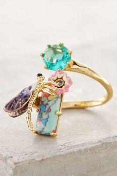 Les Nereides Dragonfly Alight Ring #anthrofave