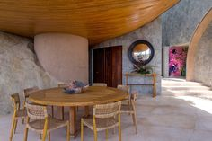 Dining Room in Las Brisas, MX by Sofia Aspe