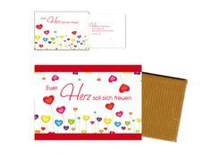 """#Schokolade und #Karte """"Euer #Herz soll sich freuen"""" #LOGO"""