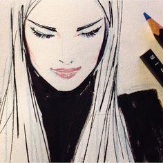 Sunday drawing - coloured pencil and ink - Jason Brooks Art