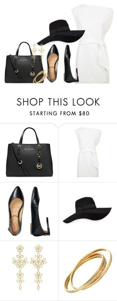 """Untitled #2173"" by skinny-jeannie ❤ liked on Polyvore featuring MICHAEL Michael Kors, Keepsake the Label, TravelSmith, San Diego Hat Co., LFrank and Cartier"