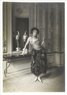 1919 Denise Poiret by Delphi © Galliera / Roger-Viollet | Wife of fashion designer Paul Poiret, Denise Poiret is seen here in the Mythe dress she wore to a soirée at L'Oasis, the glamorous Paris nightspot.