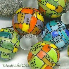 "Anastasia Lampwork Beads 7 ""Mosaic"" SRA | eBay  http://www.ebay.com/itm/261139099463?ssPageName=STRK:MESELX:IT&_trksid=p3984.m1555.l2649"