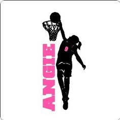 Items similar to Personalized Girl Basketball Player Wall Decal Removable Female Basketball Wall Sticker on Etsy Basketball Bedroom, Basketball Wall, Basketball Shirts, Basketball Players, Girls Basketball, Basketball Stuff, Basketball Jewelry, Basketball Party, Basketball Birthday