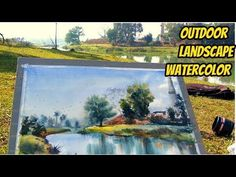 Watercolor Landscape Live Demonstration by Biki : How to paint a simple landscape in wash watercolor Watercolor Landscape Tutorial, Step By Step Watercolor, Outdoor Landscaping, Front Yard Landscaping, Painted Hills, Learn To Paint, Beautiful Landscapes, Color Mixing, Watercolor Paintings