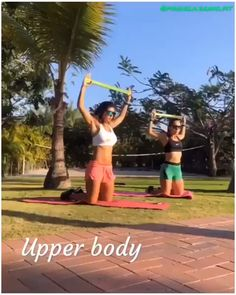 upper body workout with bands for women, hiit women workout - Fitness and Exercises Fitness Workouts, Fitness Workout For Women, Pilates Workout, Body Fitness, Easy Workouts, Hiit, At Home Workouts, Fitness Motivation, Physical Fitness