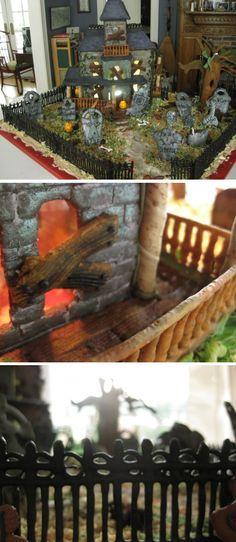 amazing haunted gingerbread house