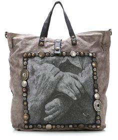 Campomaggi Lavaggio Stone Shopper grau 40 cm - C1770MTESVLT-2002 - Designer Taschen Shop - wardow.com