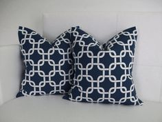 CLOSING SALE  Pillow Covers  Navy Pillows Decorative by skoopehome, $25.00