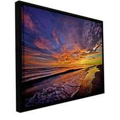 The Sunset' by Antonio Raggio Floater Framed Photographic Print Gallery-Wrapped on Canvas