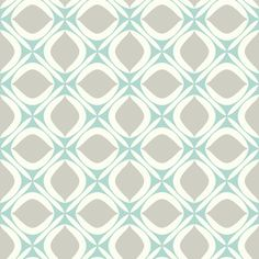 """York Wallcoverings Pattern Play 33' x 20.5"""" Foxy Wallpaper Color: Cream / Turquoise / Light Taupe"""