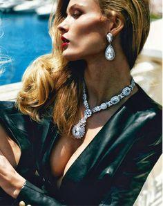 visual optimism; fashion editorials, shows, campaigns & more!: french riviera: edita vilkeviciute and anja rubik by mario testino for vogue ...