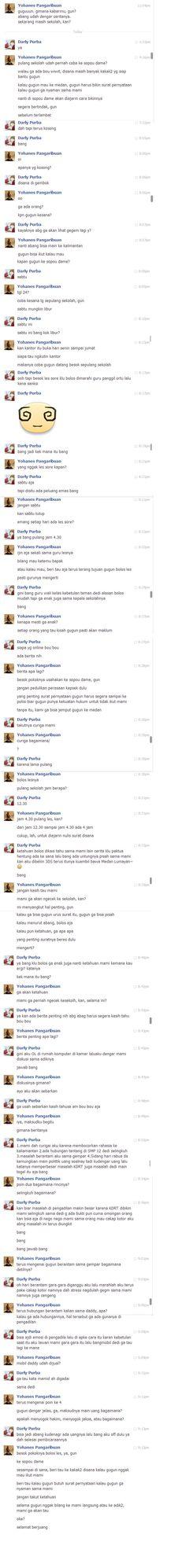 Chat-log dengan Guntur Purba tanggal 26 Agustus 2013.