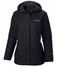 NEW Womens COLUMBIA Arcadia waterproof breathable rain jacket XS S M L XL BLACK #Columbia #Raincoat