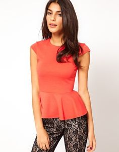 ASOS Top with Peplum in Ponti-- I love this top!  So affordable too!