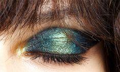 "abigaildonaldson: "" Iridescent eye makeup by Pat McGrath at John Galliano Spring/Summer 2015 """