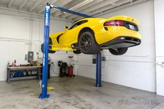 After a two-year hiatus, the Dodge Viper SRT-10 returns as the 2013 SRT Viper. We put our yellow GTS example up on our Rotary lift to see what's what in the suspension department.