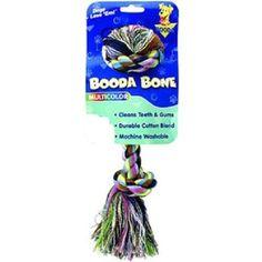 Multicolor Booda Bone Cotton Blend Colossal Rope Toy For Dogs Over 110 Lbs #Booda