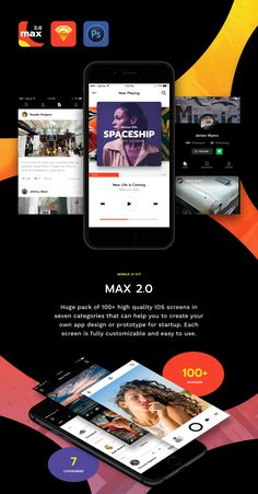 """Check out this @Behance project: """"MAX 2.0 iOS UI Kit"""" https://www.behance.net/gallery/41746189/MAX-20-iOS-UI-Kit"""