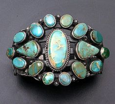 Aaron Toadlena Pilot Mountain Turquoise Sterling Silver Cuff