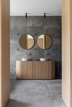Una casa de campo diseñada por Norm Architects Bathroom Furniture Design, Bathroom Interior, Palette, Interior Minimalista, Inspirations Magazine, Nordic Style, Mirror, House, Home Decor