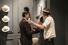 American hat maker Nick Fouquet with Anastasia Barbieri.