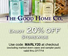 Stock up on your supplies and enjoy 20% OFF Storewide with code MARLY20. Valid thru 2/17/14 (excluding marked down cases and sampler pack)