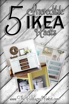 Amanda over at the Cottage Market found these incredible hacks - thank you for the Incredible Makeovers IKEA Hack Painted Furniture DIY's - The Cottage Market Ikea Furniture, Furniture Projects, Furniture Makeover, Painted Furniture, Cottage Furniture, Steel Furniture, Antique Furniture, Furniture Logo, Upcycled Furniture