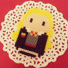 Hermione - Harry Potter perler beads by season322......... I'm fairly certain this is Luna and not Hermione! And if someone's trying to pass this off as Hermione, they should know she has BROWN hair.