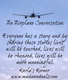 Karla's Korner: An Airplane Conversation
