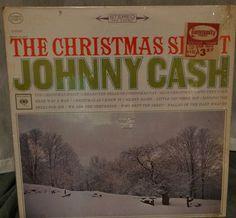 Johnny Cash The Christmas Spirit  1963 LP by DorenesXXOO on Etsy