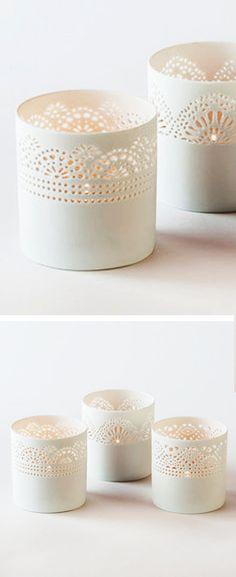 Lace votives