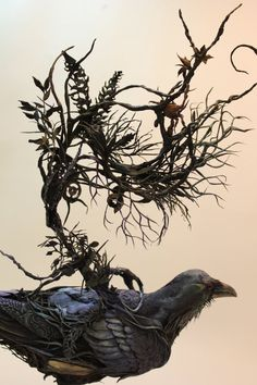 Corvid III original handmade OOAK clay art by creaturesfromel Ellen Jewett, People Art, Prints For Sale, Clay Art, Natural History, Mists, Giclee Print, Digital Prints, Sculptures