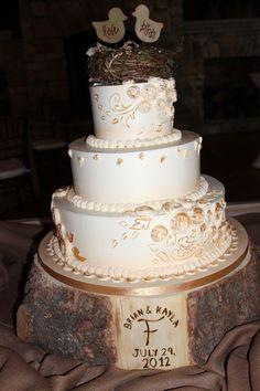 Rustic Mountain Wedding Cake