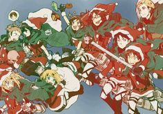 Christmas Attack on Titan style!