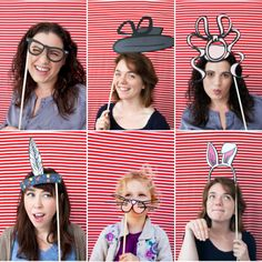 Printable Photo Booth Props! Love the glasses and indian not in love with the rest so much...