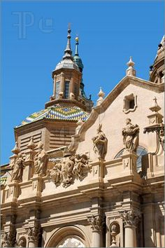The Basilica of Our Lady of the Pillar, Zaragoza, Spain | Image of Basilica-Cathedral of Our Lady of the Pillar in Zaragoza is ...