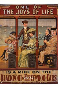 Poster Blackpool and Fleetwood Cars 1900s