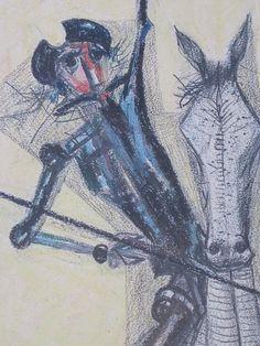 D. Quixote, pencil drawing by Cândido Portinari