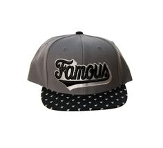 Famous Stars And Straps Men's Wood Script Snapback Hat