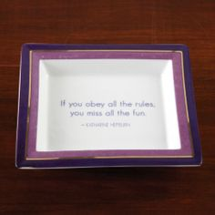 NEW If You Obey The Rules Accent Dish www.TheConsignmentBag.com Great deals delivered to your door Worldwide!