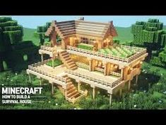 Ultimate Minecraft Survival Base With Everything You Want To Surviveal: Minecraft How To Build # 67 - Minecraft Minecraft Crafts, Plans Minecraft, Minecraft Houses Survival, Easy Minecraft Houses, Minecraft House Designs, Minecraft Decorations, Amazing Minecraft, Minecraft Blueprints, Minecraft Creations
