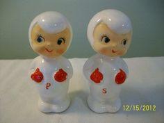 Vintage Holt Howard Snowbabies Salt Pepper Shakers Christmas Snow Baby | eBay