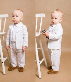 Baby boy baptism outfit long sleeve 28 ideas for 2019 Boys Linen Suit, White Linen Suit, Linen Pants, Boys Formal Wear, Boys Wedding Suits, Baby Boy Baptism Outfit, Kids Suits, New Baby Boys, Toddler Boy Outfits