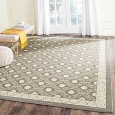 Shop for Safavieh Dark Grey/ Light Grey Geometric Indoor Outdoor Rug (8' x 11'2). Get free shipping at Overstock.com - Your Online Home Decor Outlet Store! Get 5% in rewards with Club O!