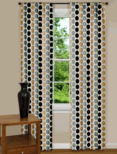 Modern curtains & drapes for every window in your home. Searching for contemporary chic or trendy and upbeat? Fancy Curtains, Curtains For Sale, Drapes Curtains, Window Drapes, Mid Century Modern Curtains, Contemporary Curtains, Kitchen Curtains, Window Treatments, Living Room Designs