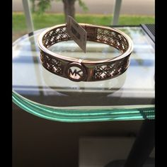 NWT Rose Gold MK Bracelet Awesomeness super Cute rose gold MK bracelet. Michael Kors Jewelry Bracelets